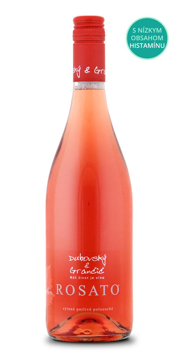 Sýtené perlivé víno ROSATO